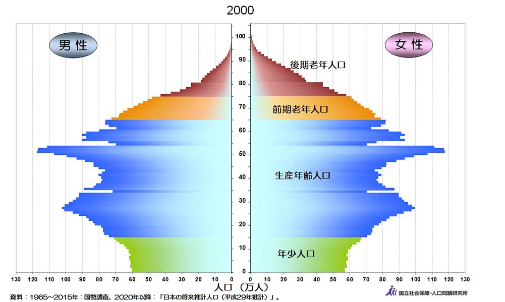 2000年人口ピラミッド