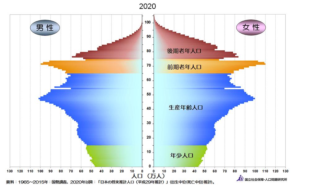 2020年人口ピラミッド