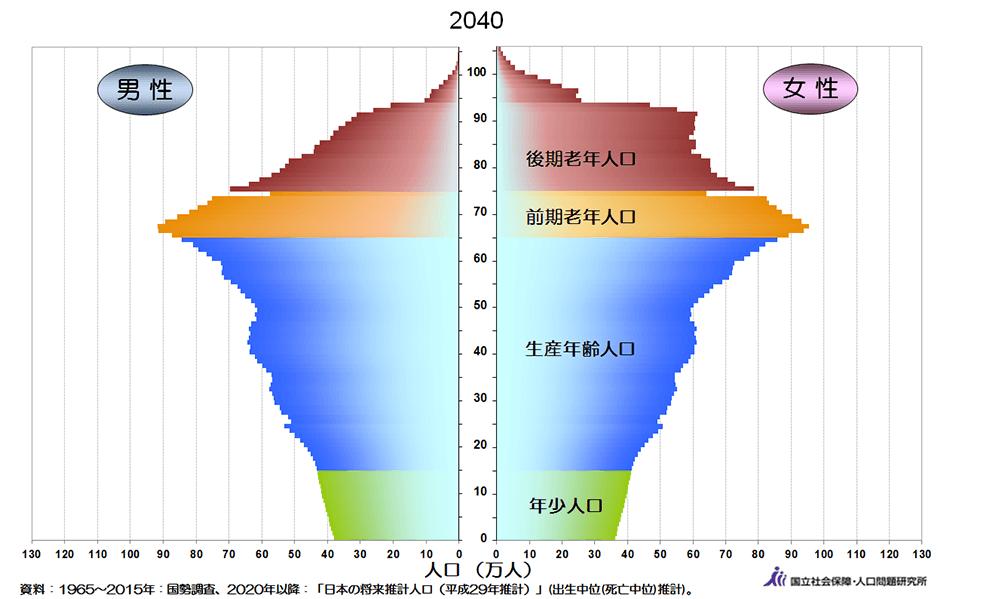 2040年人口ピラミッド
